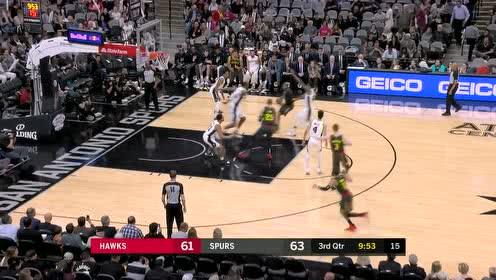 2019年04月03日NBA常规赛 老鹰VS马刺 全场录像回放视频
