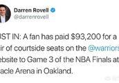 勇士和猛龙总决赛收视率不佳,但G3球票却能够卖出近10万美金的最高价,这是为什么?