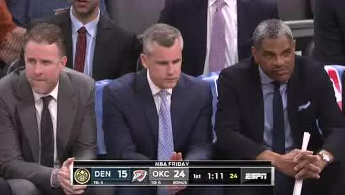 2020年02月22日NBA常规赛 掘金VS雷霆 全场录像回放视频